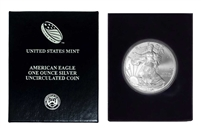 2010 U.S. Silver Eagle in Plastic Air Tite and Blue Gift Box - Gem Brilliant Uncirculated