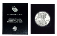 2015 U.S. Silver Eagle in Plastic Air Tite and Blue Gift Box - Gem Brilliant Uncirculated