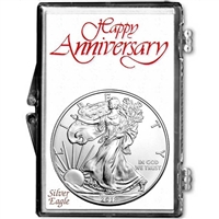 2018 U.S. Silver Eagle in Happy Anniversary Holder - Gem Brilliant Uncirculated