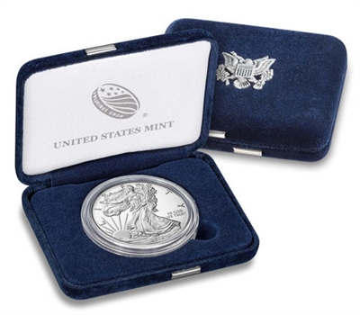 2018 W Proof American Silver Eagle with Box/ CoA