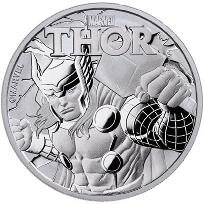 2018 1 oz Tuvalu Thor Marvel Series Silver Coin