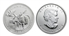2012 Canadian Moose One Ounce Silver Coin