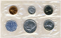 1964 - P U.S. Mint Silver Proof Set - 5 Coin Proof Set