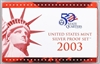 2003 U.S. Mint 10-coin Silver Proof Set - OGP box & COA