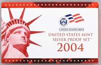 2004 U.S. Mint 11-coin Silver Proof Set - OGP box & COA