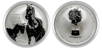 2014 Tokelau Year of the Horse Reverse Proof One Ounce Silver Coin