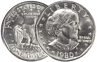 1980 - D Susan B. Anthony Dollar - Single Coin