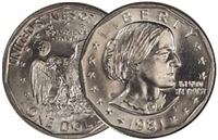 1981 - D Susan B. Anthony Dollar - Single Coin