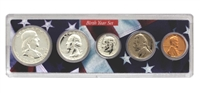 1957 Birth Year Coin Set in American Flag Holder