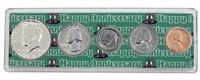 1967 - 51st Anniversary Year Coin Set in Happy Anniversary Holder