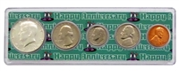 1968 - 50th Anniversary Year Coin Set in Happy Anniversary Holder