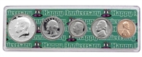 1970 - 48th Anniversary Year Coin Set in Happy Anniversary Holder