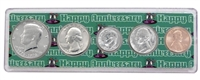 1976 - 42nd Anniversary Year Coin Set in Happy Anniversary Holder