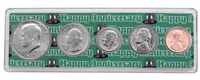 1977 - 40th Anniversary Year Coin Set in Happy Anniversary Holder