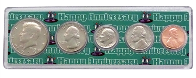 1978 - Anniversary Year Coin Set in Happy Anniversary Holder