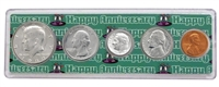 1980 - 38th Anniversary Year Coin Set in Happy Anniversary Holder