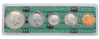 1983 - 34th Anniversary Year Coin Set in Happy Anniversary Holder