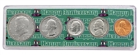 1984 - 34th Anniversary Year Coin Set in Happy Anniversary Holder
