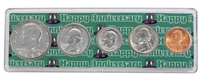 1986 - 32nd Anniversary Year Coin Set in Happy Anniversary Holder