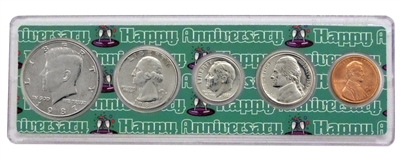 1987 - 31st Anniversary Year Coin Set in Happy Anniversary Holder