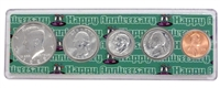 1989 - 29th Anniversary Year Coin Set in Happy Anniversary Holder
