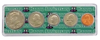 1993 - 25th Anniversary Year Coin Set in Happy Anniversary Holder