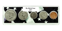 1997 Birth Year Coin Set in American Flag Holder