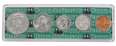 1997 - 21st Anniversary Year Coin Set in Happy Anniversary Holder