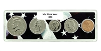 1998 Birth Year Coin Set in American Flag Holder