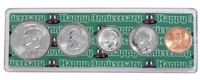 1999 - 19th Anniversary Year Coin Set in Happy Anniversary Holder