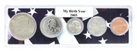 2005 Birth Year Coin Set in American Flag Holder