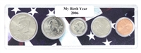 2006 Birth Year Coin Set in American Flag Holder
