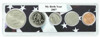 2007 Birth Year Coin Set in American Flag Holder