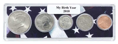 2010 Birth Year Coin Set in American Flag Holder