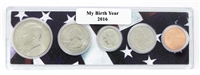 2016 Birth Year Coin Set in American Flag Holder