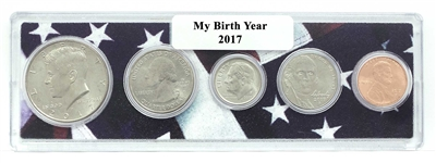 2017 Birth Year Coin Set in American Flag Holder
