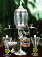 Lady Wings Absinthe Fountain Set With Glasses & Spoons
