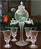 Rozier 4 Spout Absinthe Fountain With Glasses & Spoons