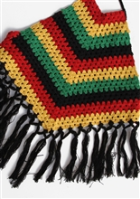 Triangle Rasta Crochet Top