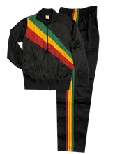 Rasta Stripe Track Suit Set