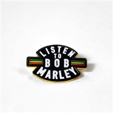 Listen To Bob Enamel Pin