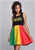 One Love Rasta Tank Dress