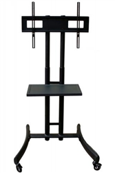 Rocelco BSTC Basic Flat Panel TV Cart (Black)