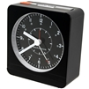 Marathon Analog Desk Alarm Clock With Auto-Night Light (BLACK)