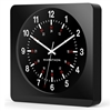 Marathon Jumbo 12-Inch Analog Wall Clock w/ Auto-Night Light & Silent Sweep (BLACK)