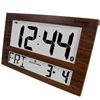 Marathon Jumbo Bluetooth Clock System for iOS/Android (WOOD GRAIN)