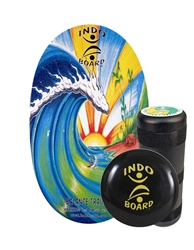 Indo Board Original Training Pack (Bamboo Beach) w/ Roller & Cushion