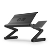 "Uncaged Ergonomics WorkEZ Cool 18"" Wide Adjustable Height Laptop Stand w/ 2 Cooling Fans, 3 USB ports, Mouse Pad (BLACK)"