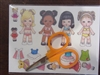 """Wee Beans"" Paper Doll & Scissors Set for 18 Doll"