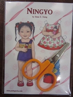 """Ningyo"" Paper Doll & Scissors Set for 18 Doll"